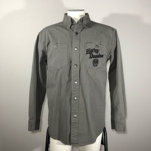 Harley Davidson Small Jacket With Skull Embroidery
